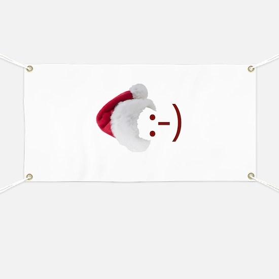 Smiley Emoticon - Santa Hat Banner