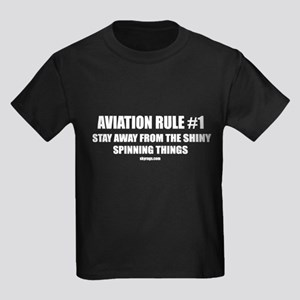 AVIATION RULE #1 Kids Dark T-Shirt