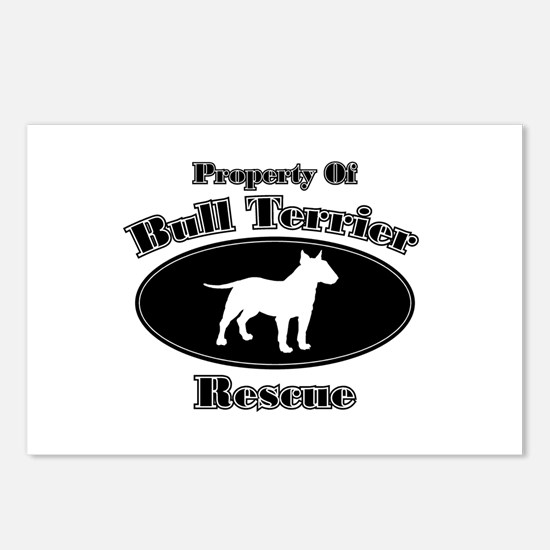 Property of Bull Terrier Resc Postcards (Package o
