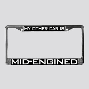 Mid Engined License Plate Frame