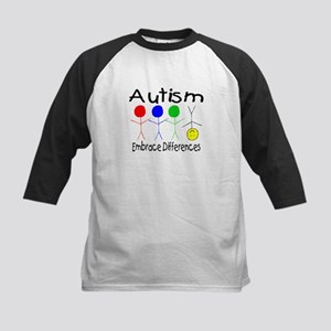 Autism, Embrace Differences Kids Baseball Jersey