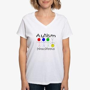Autism, Embrace Differences Women's V-Neck T-Shirt