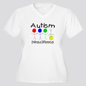 Autism, Embrace Differences Women's Plus Size V-Ne