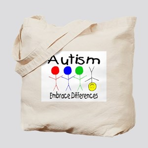 Autism, Embrace Differences Tote Bag