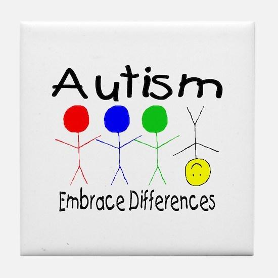 Autism, Embrace Differences Tile Coaster