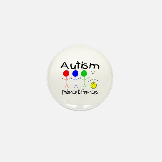 Autism, Embrace Differences Mini Button