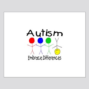 Autism, Embrace Differences Small Poster