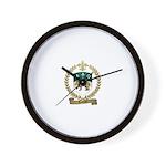 TESTARD Family Crest Wall Clock