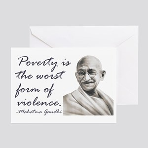 Gandhi Qute - Poverty is the Greeting Cards (Pack
