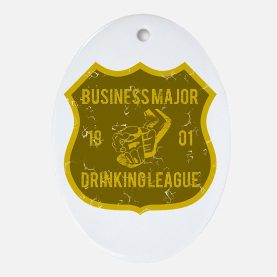 Business Major Drinking League Oval Ornament