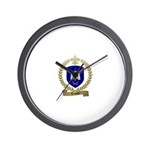 TEMPLET Family Crest Wall Clock