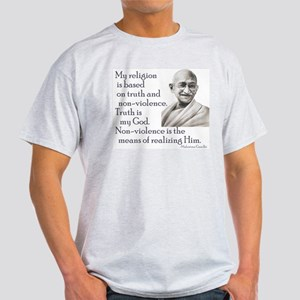 Gandhi quote - Truth is my Go Ash Grey T-Shirt