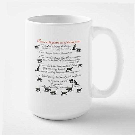 Herding cats Large Mug