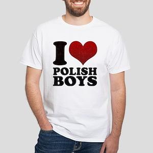I love Polish Boys White T-Shirt