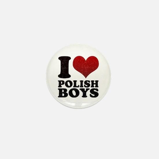 I love Polish Boys Mini Button