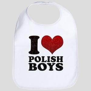 I love Polish Boys Bib