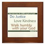 Micah 6:8 Framed Tile