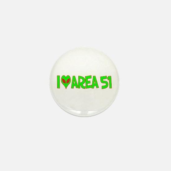 I Love-Alien Area 51 Mini Button