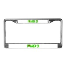 I Love-Alien Area 51 License Plate Frame