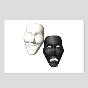 MASKS OF COMEDY & TRAGEDY Postcards (Package of 8)