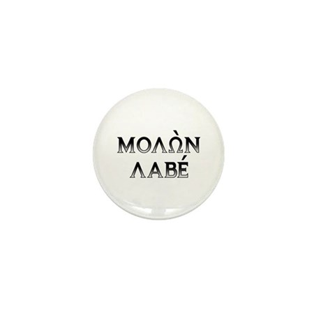 Molon Labe: Mini Button x10 (dark block)