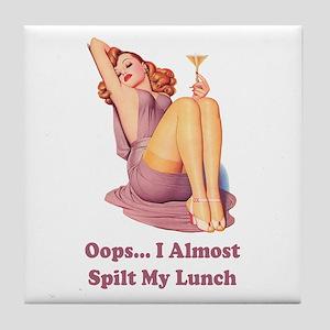 OOPS... I SPILT MY LUNCH Tile Coaster