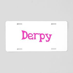 Derpy Aluminum License Plate