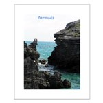Bermuda Rock Formations by Kh Small Poster