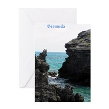 Bermuda Rock Formations by Kh Greeting Card