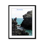 Bermuda Rock Formations by Kh Framed Panel Print