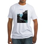Bermuda Rock Formations by Kh Fitted T-Shirt