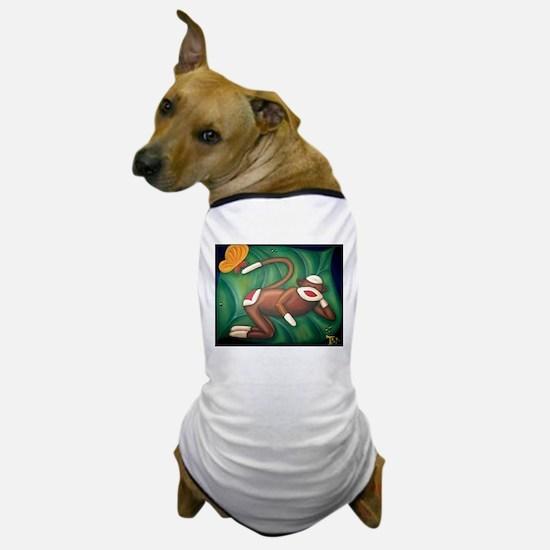 Leaf Sock Monkey Dog T-Shirt
