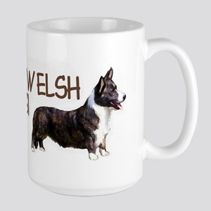 cardigan welsh corgi Large Mug