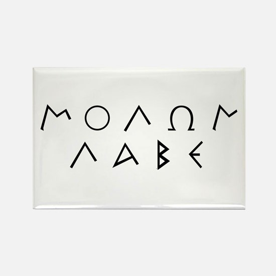 Molon Labe (Script): Rectangle Magnet