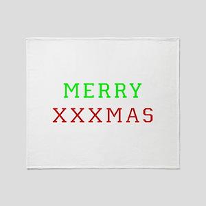 Merry XXXmas Throw Blanket