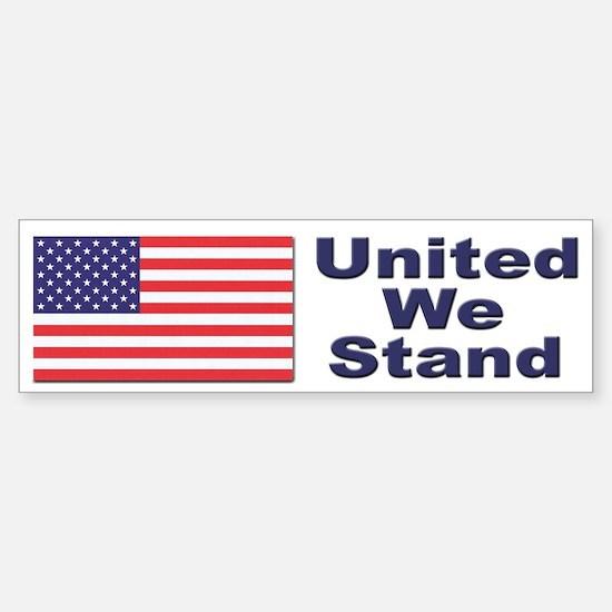 United We Stand Patriotic Bumper Bumper Bumper Sticker