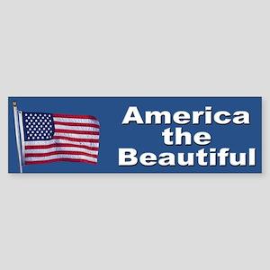 America the Beautiful Patriotic Bumper Sticker