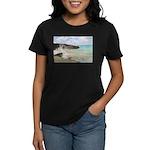 Pink Sandy Beach in Bermuda - Women's Dark T-Shirt