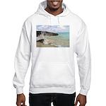 Pink Sandy Beach in Bermuda - Hooded Sweatshirt