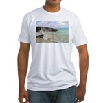 Pink Sandy Beach in Bermuda - Fitted T-Shirt