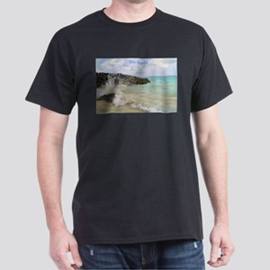 Pink Sandy Beach in Bermuda - Dark T-Shirt