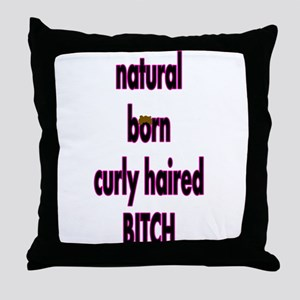 Curly Hair Throw Pillow