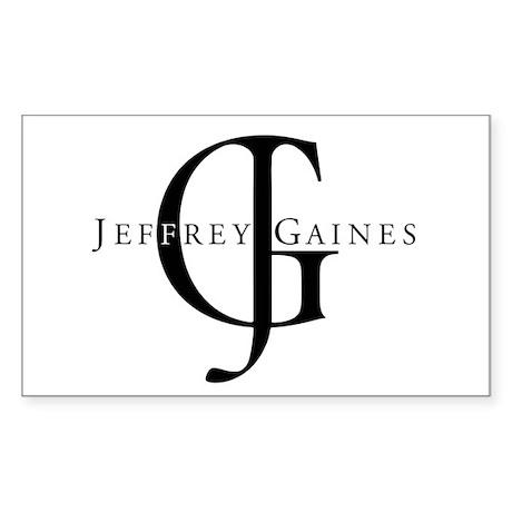 """Jeffrey Gaines Vinyl Sticker (3"""" x 5"""")"""