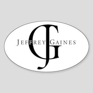Jeffrey Gaines Vinyl Oval Sticker
