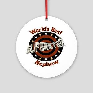 Superstar Nephew Ornament (Round)