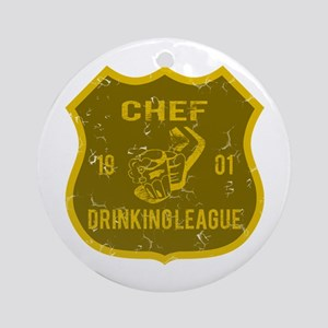 Chef Drinking League Ornament (Round)