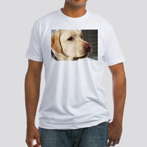 Yellow Lab (photo) Fitted T-Shirt