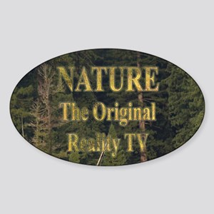 Original Reality TV Oval Sticker