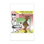 Reindeer Drug Tests Mini Poster Print
