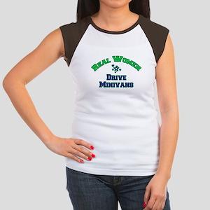 Real Women Drive Minivans Women's Cap Sleeve T-Shi